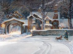 old country winter artwork  | Art Country Canada -TRISHA ROMANCE Child of Winter Limited edition ...