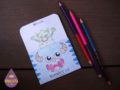 English for kids | Resources for teachers and parents: Monsters! Free number flash cards. Teach numbers and counting. Math. There are flash cards for a teacher in A4 and A5 format. There are also smaller cards for your students or your child in A6 format. There are two types of these cards. The coloured ones and black and white ones so that your kids can colour them on their own! Additionally, the cards in A5 and A6 format have a template for the cards wallet to keep them all together.