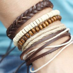 cool Multilayer Leather Wrap Braided Wristband Cuff Bracelet Bangle Punk Men Women - For Sale View more at http://shipperscentral.com/wp/product/multilayer-leather-wrap-braided-wristband-cuff-bracelet-bangle-punk-men-women-for-sale/