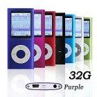 G.G.Martinsen 32 GB Mini Usb Port Slim Small Multi-lingual Selection 1.78 LCD Portable Mp3/Mp4, Mp3Player , Mp4Player , Video Player , Music Player , Media Player , Audio player With Photo Viewer , E-book Reader , Voice Recorder, Games & Movie-Purple