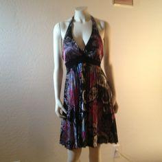 Hp 12/31 Black Paisley Dress