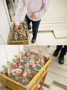 vintage soda bottle ring toss game http://www.weddingchicks.com/2013/11/27/brunch-wedding/