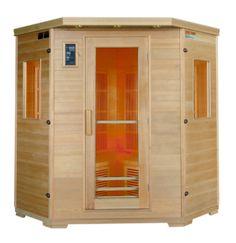 Sauna infrarouge en cèdre rouge – places - Luxury - Tek Import : www. Sauna Infrarouge, Deco Design, Shed, Outdoor Structures, Luxury, Places, Barns, Sheds, Lugares