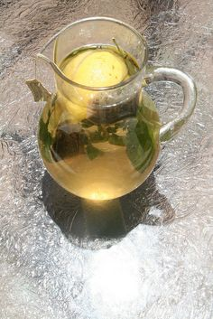 Herbal sun tea.  Most of which is growing in the garden right now.