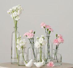 composition de diff rents vases en verre avec bouteille d 39 huile et bouteille la mer. Black Bedroom Furniture Sets. Home Design Ideas