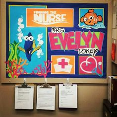 Finding Nemo Finding Dory Finding the Nurse Bulletin Board Love it! Cricut for the Classroom