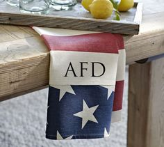 Need: Monogrammed American Flag Napkin.