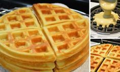 Fantastický recept na pravé belgické wafle Waffle Recipes, Cake Recipes, I Love Food, Good Food, Bubble Waffle, Pita, Food Hacks, Nutella, Sweet Recipes