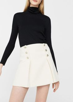 Double-breasted skirt - Woman | MANGO United Kingdom
