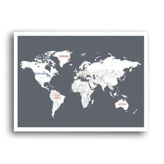 Golden color world map poster art works pinterest golden color gumiabroncs Images