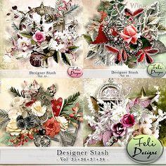 Designer Stash Vol. 35 & 36 & 37 & 38 (CU) by Feli Designs