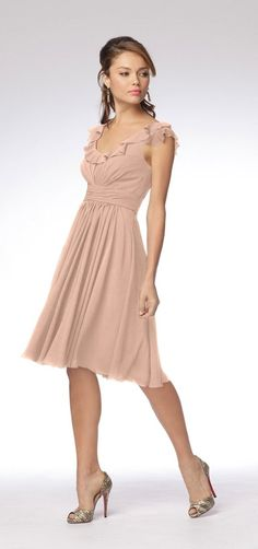 Nude Bridesmaid Dress... twoo!!! super simple and cute
