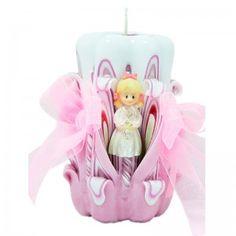 Un bonito regalo para los invitados de la comunion de una niña, velita decorada para comunion