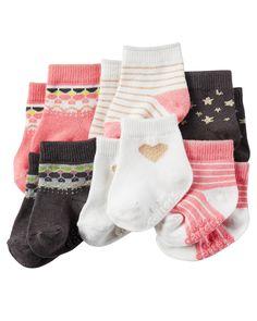 Baby Girl 6-Pack Booties   Carters.com
