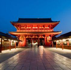 Japanese Temple in Asakusa in Tokyo, Japan