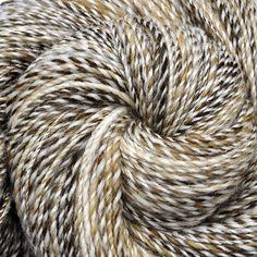 Handspun yarn - WINTER LYNX - Natural color wool, worsted weight. 335 yds. ~ Edgewood Garden Studio