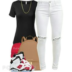 Pants and top bag and sneakers.