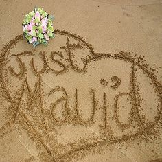 get married in hawaii, put this as the front of custom thank yous :D     i'm so creative. lol.