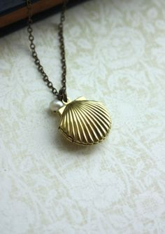 Seashell Locket | Community Post: 17 Perfect Gifts For The Mermaid In Your Life