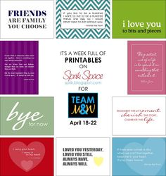 Lots of free and cute printables here  Sprik Space: Freebies