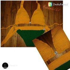 #crochetDeuce bikini color amarillo y verde disponible en talla S, encargos: Inbox deucestore@gmail.com Facebook/deuceCR #crochet #deucegirl