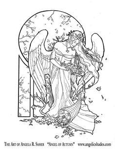 ангел Осень