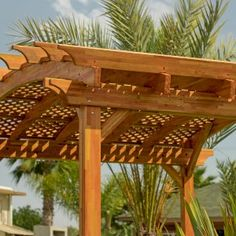 Shop online for Pergolas at Forever Redwood. Hand-crafted Arched Pergola Kits available in custom sizes, shapes, and wood grades. Curved Pergola, Deck With Pergola, Cheap Pergola, Outdoor Pergola, Pergola Kits, Backyard Patio, Backyard Landscaping, Hot Tub Garden, Dream Garden