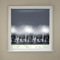The Blackout Skyline Border Roller Blind is a fashionable monochrome design featuring a cityscape at night and would be a stylish and practical addition to any modern home.   Sizes available:  61cm (2ft), 91cm (3ft), 120cm (4ft), 152cm (5ft), 180cm (6ft) £11.99 - £31.99