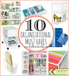My Top 10 Organizing Items! www.firsthomelovelife.com