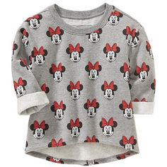 Old Navy Disney Minnie Mouse Fleece Sweatshirts For Baby Size 5T -... (78 BRL) ❤ liked on Polyvore featuring baby and tops