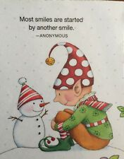Most Smiles Handmade Fridge Magnet Mary Engelbreit Artwork Mary Christmas, Christmas Rock, Christmas Themes, Vintage Christmas, Christmas Crafts, Christmas Holidays, Celebrating Christmas, Christmas Stuff, Mary Engelbreit