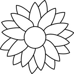 free printable sunflower stencils sunflower clip art vector clip