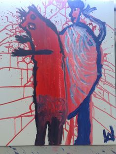 such das beast in dir Art Of Seduction, Beast, Red, Painting, Atelier, Red Color, Photo Illustration, Paintings, Draw