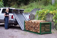 move firewood with tractor | Firewood Rack