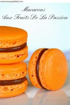 New Ideas Fruit Passion Recette Summer Desserts, Christmas Desserts, Easy Desserts, Yogurt Recipes, Fruit Recipes, Macarons, Ganache Macaron, Dessert Aux Fruits, French Macaroons