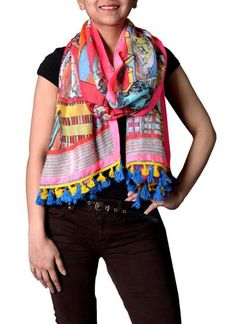 Multicolour Chandni Chowk Scarf #scarves #summer