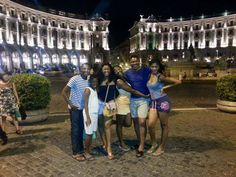 #Nollywood: Photo of Omotola J. Ekeinde (@RealOmosexy) and her family of 6 in Rome. Vacation things. See what fans are saying on NMN FB page: https://www.facebook.com/photo.php?fbid=652823528062010