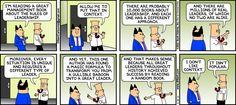 The Dilbert Strip for June 30, 2013 - book on leadership