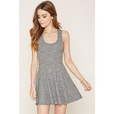 a94bedcf25 A sleeveless skater dress crafted from heathered knit with a racerback