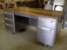 Refinished Vintage Tanker Desk - Love