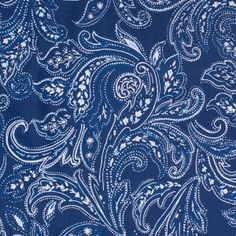 Blue Paisley Cotton Poplin