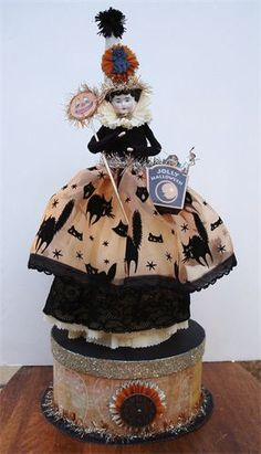 Susan Arnot Vintage China Head Halloween Doll-Susan Arnot Vintage China Head Halloween Doll