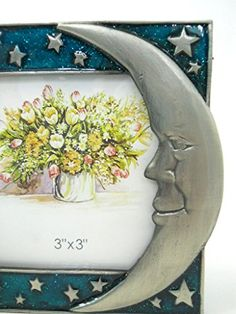 Moon Stars Picture Frame Pewter Hand Painted Enameled Metal 3x3 Photo Insert New Wellforth http://www.amazon.com/dp/B00TMHFLPG/ref=cm_sw_r_pi_dp_7s93ub0FHHTHR