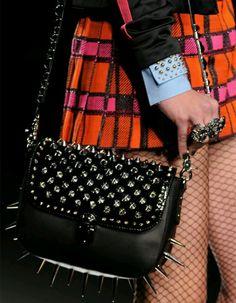 Frankie Morello Spiked Bag