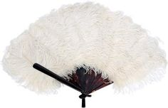 """How to Make a Burlesque Fan 12 ostrich feathers 18 ft fish tubing 10 hair ties Glue Bottle glitter Lg cardboard box Cut 2 half-moons out of cardboard panel exactly the same size. 20"""" in length and 4"""" wide. Cut fish tubing into 6pcs 35"""" long. Glue ea pc to 1 side of the cardboard ~5"""" apart & flush w/the top. Glue the other cardboard pc opposite side. 12 feathers in tubing. Use 2 feathers in ea. Glue & glitter ea side of 1/2moon. Dbl wrap btm of fan w/10 hair ties @ base of tubing."""