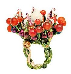 Crystal Cocktail Ring - Dior Lipstick - Ideas of Dior Lipstick. Designed by Victoire de Castellane. Dior Jewelry Ideas of Dior Jewelry Dior ring. Designed by Victoire de Castellane. Dior Jewelry, I Love Jewelry, Modern Jewelry, Jewelry Art, Jewelry Rings, Unique Jewelry, Vintage Jewelry, Jewelry Design, Jewelry Ideas