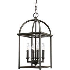 $233.67 Home Depot.    Thomasville Lighting - Piedmont Collection Antique Bronze 4-light Foyer Pendant - 785247155729 - Home Depot Canada