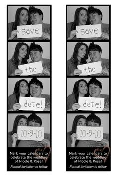 Save the date, photobooth style