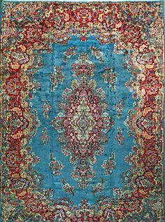 Kerman Persian Rug Handmade 13 9 X 19