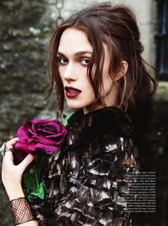 Keira goes goth for Harper's Bazaar